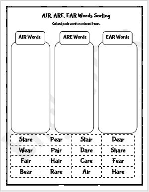 Ear Air Are Phonics Worksheets – First English For All Children Learn English Phonics Worksheets On Best Worksheets Collection 6357